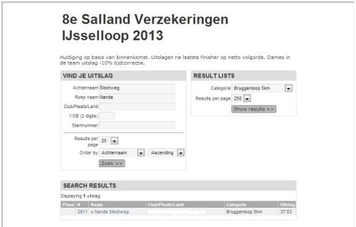 Uitslag Ijsselloop (Bruggenloop) Deventer 140413  2
